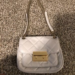 Michael Kors quilted white leather purse